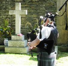 Brian Findlay of Kirkwall City Pipe Band - courtesy of Jennifer Blackwell