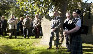 Atendees at the Graveside Ceremony